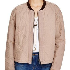 FREE PEOPLE Linear Quilted Bomber Jacket XS